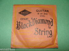 Black Diamond Guitar String B or 2nd Steel National Musical String Co NOS
