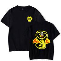 Cobra Karate First Strike Hard Kai Strike Fast No Mercy T-Shirt Mens Clothing