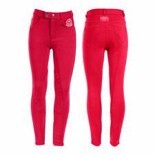 Horze Kids Knee Patch Breeches - RED Children's Size 14