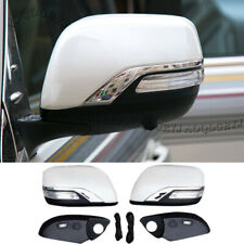 Pearl White Rear-View Mirror Cover Replacement For Land Cruiser LC200 2016-2020