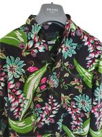 "Mens PRADA flora print long sleeve shirt size EU48/UK38"" small...RRP £495"