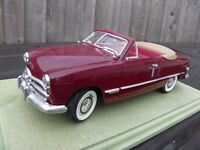 MIRA SPAIN 1:18 Dark Red 1949 Ford Tudor Convertible Diecast Model Car Toy