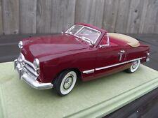 MIRA SPAIN 1:18 Dark Red 1949 Ford Tudor Convertible Diecast Model Car Toy