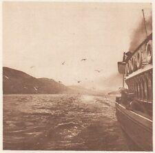 G0102 Scotland - Le Canal Calédonien  - Stampa d'epoca - 1923 Old print
