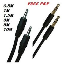 Jack to Jack 3.5mm Electric AUX Stereo Audio Gold Cable Lead Iphone Ipad Mp4 PC