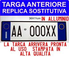 """TARGA AUTO PROVVISORIA ANTERIORE IN ALLUMINIO PERSONALIZZABILE """"D.LGS 285/92"""" to"""