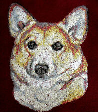 Embroidered Ladies Short-Sleeved T-Shirt - Pembroke Welsh Corgi Aed14479