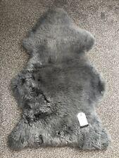 REAL GENUINE Grey sheepskin rug In Platinum Grey Value Range