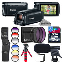 Canon VIXIA HF R800 Camcorder + Shotgun Mic + Rotating Bracket - 64GB Bundle