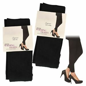 3X LADIES WOMEN THERMAL FLEECE LINED WINTER WARM THICK LEGGINGS TIGHT TOG S-XXL