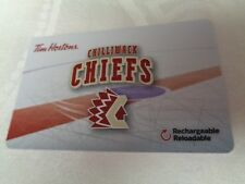 Tim Horton's - BCHL - CHILLIWACK CHIEFS - Gift Card 2018 - New, Unused - FD62815
