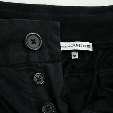 JAMES PERSE Mens Black Cotton Canvas Utility Cargo Pants size 31