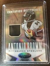 Antonio Brown 2014 PANINI CERTIFIED NFL GAME USED JERSEY SWATCH /299 Steelers