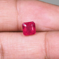 1.90 Cts Natural Ruby Transparent Pigeon Blood Red Finest Top Quality Gemstone
