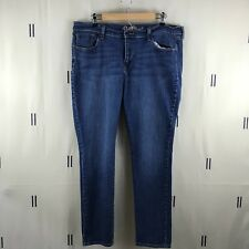 Old Navy Womens Jeans 16 Blue The Sweetheart Denim Stretch LR4