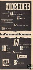 tour. Faltblatt, Augsburg Informationen, 1963