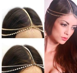 Metal Multilayer Boho Head Chain Headband Wedding Hairstyle Hair Accessories AL
