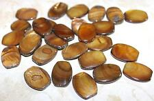 "19"" Loose Strand Golden Brown Mother of Pearl Shell Beads 20x14mm  B151"
