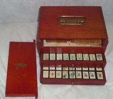 RARE VINTAGE PORTLAND BILLIARD BALL MAHJONG CHINESE TILE GAME IN WOODEN BOX