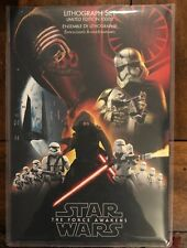 STAR WARS  THE FORCE AWAKENS LITHOGRAPH SET LIMITED EDITION 10000