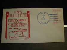 Submarine USS BULLHEAD SS-332 Naval Cover 1944 HERALD WWII COMMISSIONED Cachet
