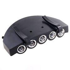 5 LED Head Cap Hat Clip Light Lamp Flashlight For Hunting Fishing Headlamp AD