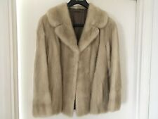 VINTAGE 1970's  CREAM BLOND REAL MINK FUR JACKET SIZE 10