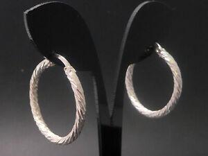 NEU Ohrringe 925 Sterling SILBER silver earrings Deco Kreolen Creolen argento