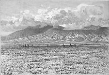 INDONESIA (JAVA) - THE BROMO VOLCANO (Gunung Bromo) -Engraving from 19th century