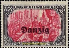 EBS DANZIG Freie Stadt Wolne Miasto Gdańsk 1920 5 Mark Michel 15B MH*