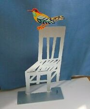 """Metal/Steel """" Empty chair  """" Modern Art Sculpture  by DAVID GERSTEIN85"""