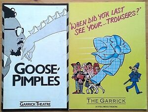 Selection of individual Garrick Theatre programmes 1980s, West End programme