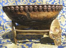 Antique Master Quality Hand Carved Tantrick Tibetan pure Kapala, Nepal