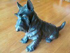 Jennings Brothers Scottish Terrier Dog Metal Statue #673 Bronze Finish ca 1930