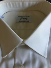 Brioni Long Sleeve -L-17-1/2- Solid Cream ColorDress Shirt