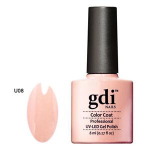 GDI NAILS - NUDE UV LED SOAK OFF NAIL POLISH VARNISH - U08 - POWDER ME PINK FR