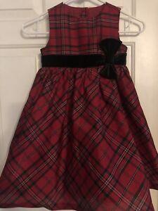 Girls Red Plaid Holiday Christmas Dress 5t 5 Gymboree
