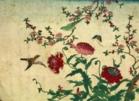 Japanease Print Shunga - Estampe Japonaise, Japon, Fleur, Oiseau v. 1830