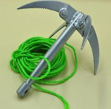 Outdoor Climbing Claw Ninja Folding Boat Wall Anchor Rock Grappling Hook Tool