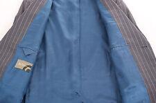 BEN SHERMAN PEAKED LAPEL GREY PINSTRIPE MEN'S SUIT 42R DRY-CLEANED