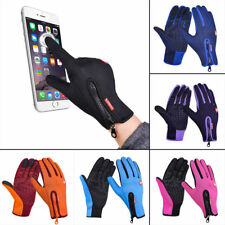 Unisex Black Outdoor Touch Gloves Windbreaks Waterproof Ski Climbing Cycling M