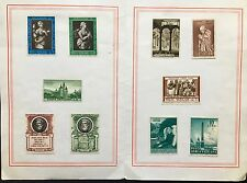 Vatican selection of 10 MH stamps 1950-1960's in Galleria Savelli folder