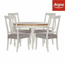 Oak Round Table & Chair Sets with Extending and 5 Pieces