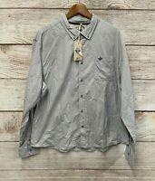 Dockers Alpha Shirt Mens Size 2XL Light Gray Slim Fit Button Down Shirt New
