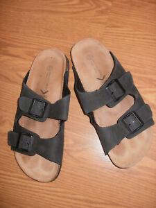 Next Mens Charcoal Sandals Flat Bed Double Strap size 10 unworn