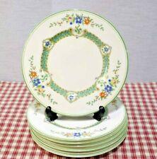 "LOT of 7 George Jones Crescent 8"" Salad Plates 28687 / 28243 c.1920 Green band"