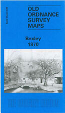 OLD ORDNANCE SURVEY MAP BEXLEY BRIDGEN HURST VALE MASCAL 1870