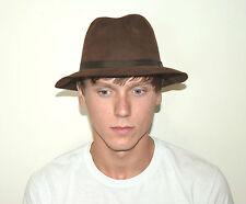 Vintage Men's Brown Fur Felt Dunhill Fedora Hat - Made In England - Size 7 1/4