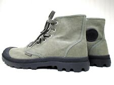 PALLADIUM Men's US 11 Pampa Canvas Boots EUR 44.5 Army Green 02352090 Hiking NEW