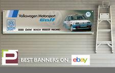 Volkswagen Golf Rallye Motorsport Banner for Garage, Workshop, VW Motor Sport